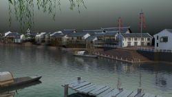 雨过古镇3d模型