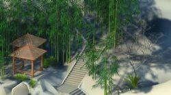 山间梯道,仙境3d模型