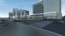 城市建筑交通�赢�模�M3d模型