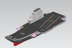 简易航母stl模型