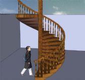 旋转楼梯su模型