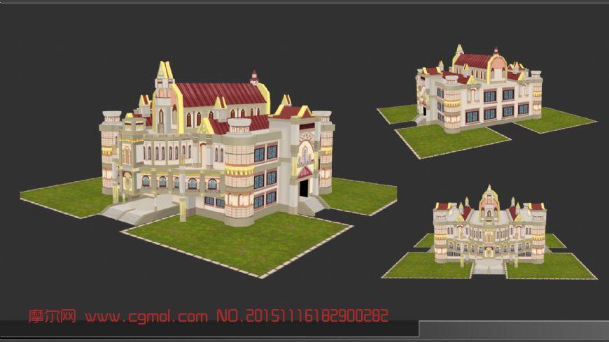 手绘,房子,场景,游戏,城堡图片