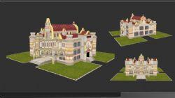 手绘房子,游戏城堡