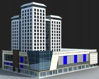购物中心建筑模型