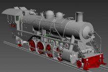 原比例制作,中国唯一一款实物比例上游蒸汽火车3D模型