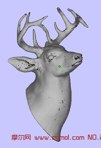 手绘鹿头手机壁纸