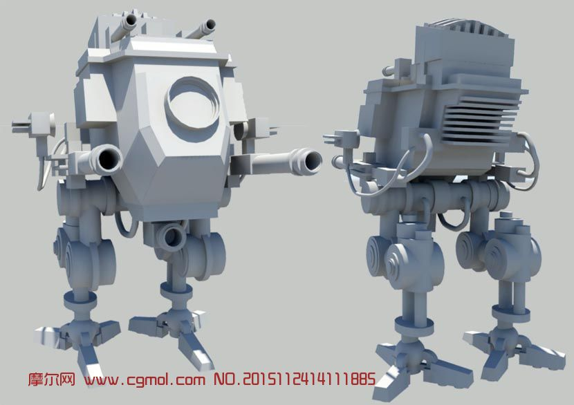 maya类人机器人模型