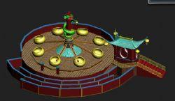 游乐场-弹跳机.中式古典风格