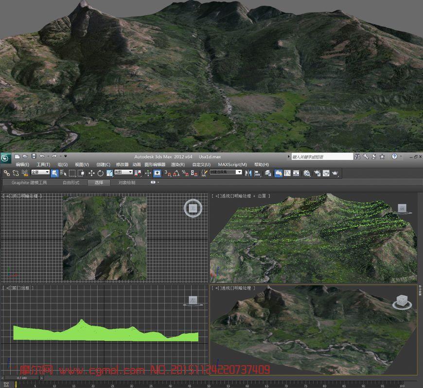 大山岭,大峡谷3D模型