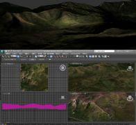 夜晚山头山景3D模型