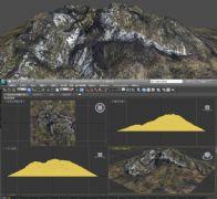 雪山,石山3D模型,山峰