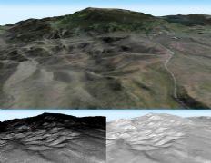 山地湖泊风光3D模型