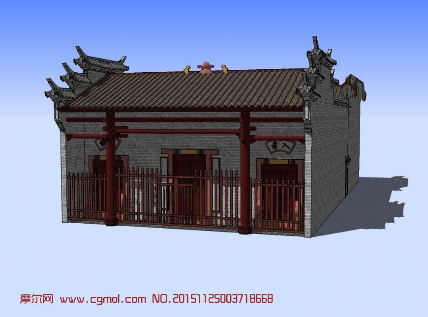 庙宇,古建3D模型