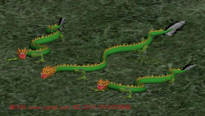 神龙3D模型,气势逼人