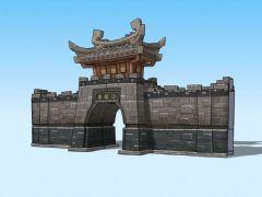 Q版城门3D模型