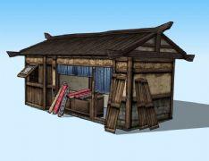 古代裁缝店,布匹店3D模型
