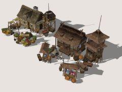 古市场3D模型