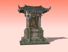 土地庙3D模型