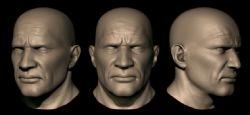 坚定意志的男人头部ztl模型