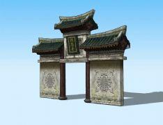 报恩寺大门3D模型