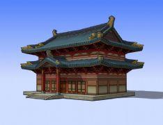 古建殿堂3D模型,大雄��殿