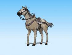 战马3D模型