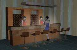酒吧吧台3d模型