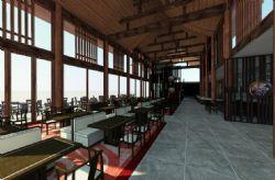 5星级中式海边酒店自助餐厅