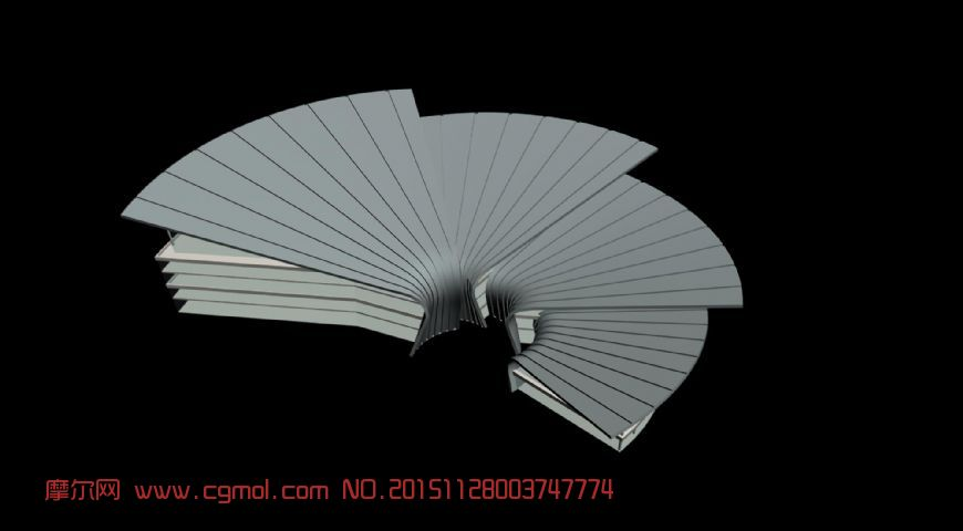 3d手绘武器模型扇子