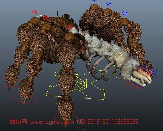 死亡蜘蛛带绑定maya作品