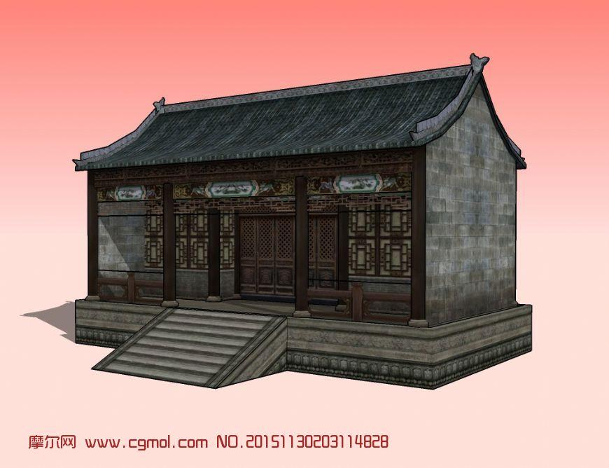 中式建筑  標簽:仿古房屋門窗磚瓦臺階木作