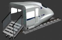 高铁模拟驾驶仓max模型