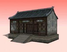 �|房,古建民居3D模型