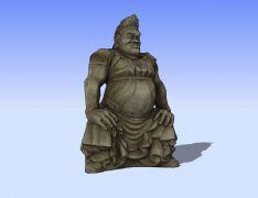 石雕佛3D模型
