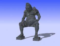 高大��旱氖�雕佛3D模型