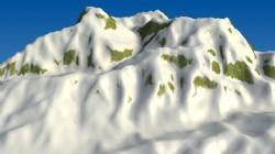 白雪皑皑,雪山3d模型