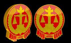 法院logo三维模型