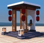 中式灯笼亭子