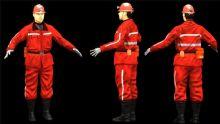 真实矿工,消防员角色max模型