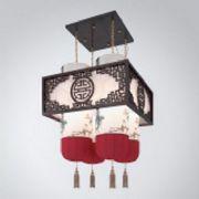 牡丹花中式吊灯