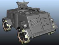 坦克卡通版maya模型