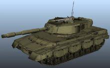 maya坦克简单模型