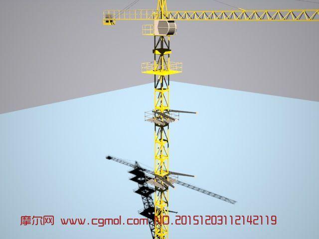 原创: 带附着塔吊