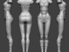 女性躯干,身体