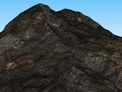 黑山地,大山体3D模型