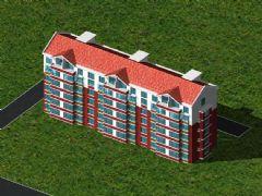 住宅楼模型