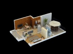 阁楼剖面室内模型