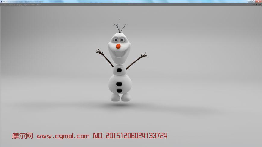 frozen 冰雪奇缘里的雪人Olf ,fbx,c4d, Obj,3DS格式