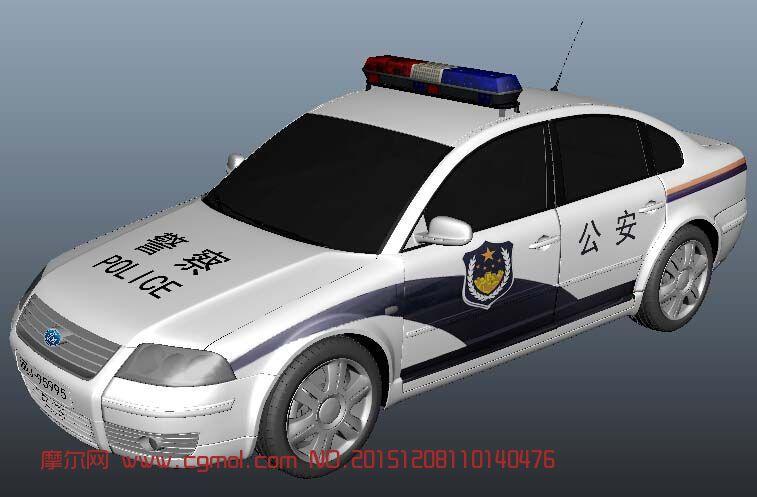 中国制式警车,mb/c4d/fbx格式都有