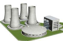 火力发电厂模型